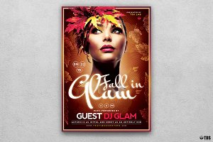 Fall in Glam Flyer Template V5