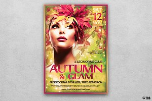 Fall in Glam Flyer Template V6