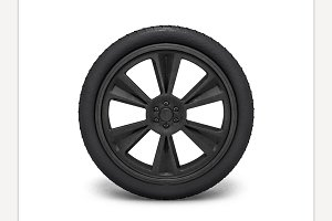 Wheels with blackened rim
