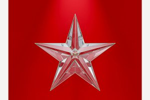 Glass Christmas Star