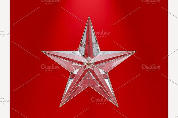 Glass Christmas Star