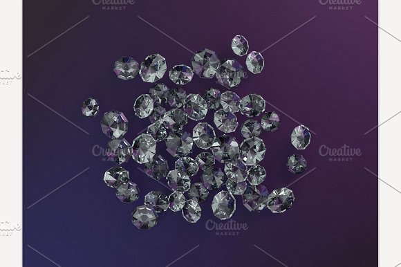 Diamond Jewel On Dark Background