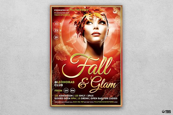 Fall in Glam Flyer Template V7