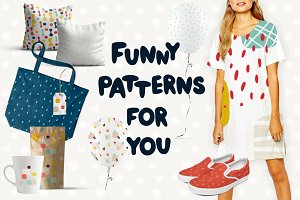 45 funny seamless patterns