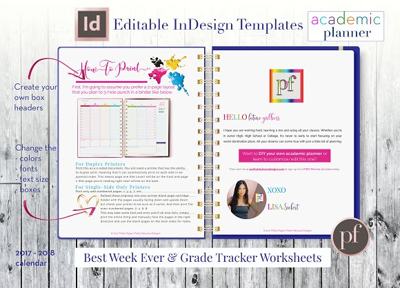 Academic Planner | InDesign Template