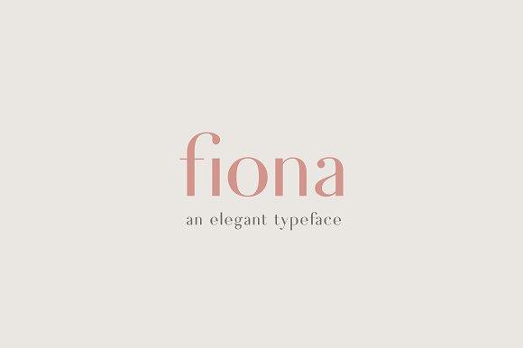 Fiona An Elegant Typeface