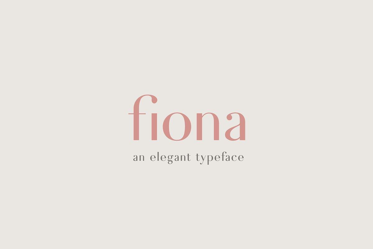 Fiona - An Elegant Typeface ~ Sans Serif Fonts ~ Creative Market