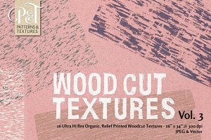 Wood Cut Textures Vol. 3