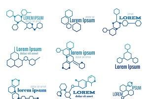 Molecule structure logo