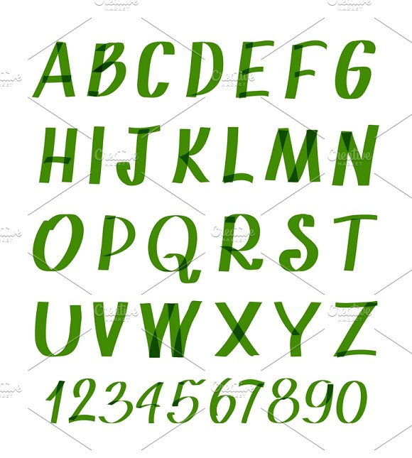 Marker Letters And Numbers