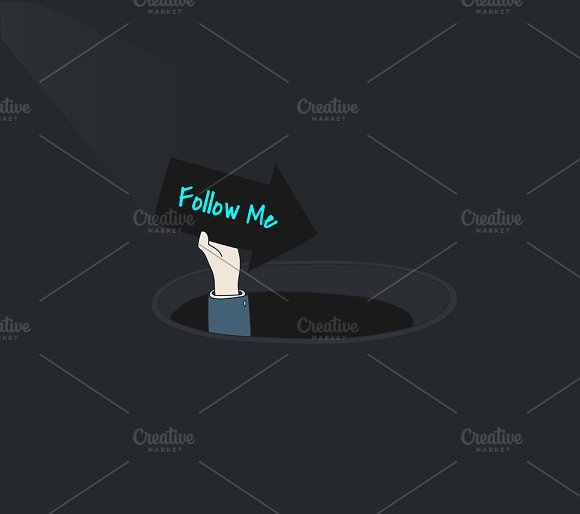 Vector Of Follow Social Media