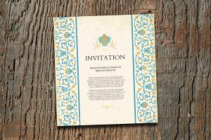 Vintage invitation card template