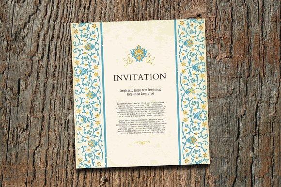 Vintage Invitation Card Template