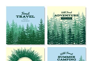 Lumber style poster cards