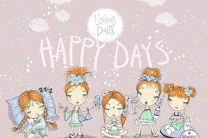 Red Hair Girl Clipart