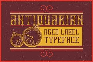 Antiquarian label typeface