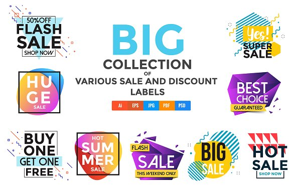 Vivid Collection Of Sale Banners