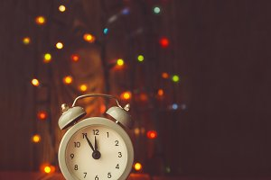 New year's midnight clock