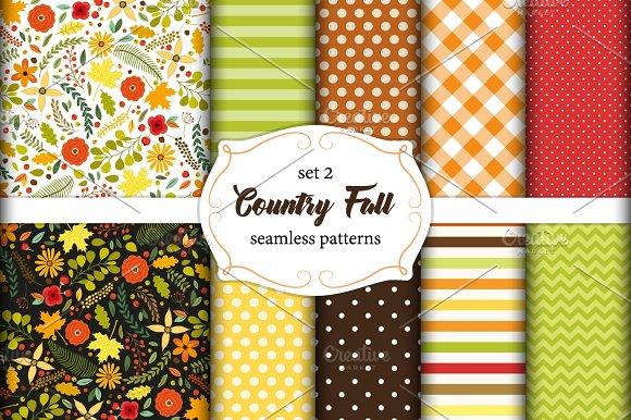 Set Of 10 Seamless Fall Patterns