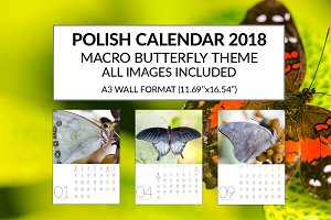 Polish Calendar 2018 Template