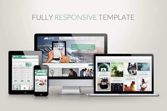 Arctic Responsive Html5 Template Html Css Themes Creative Market
