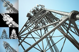 Big Telecommunication Towers (set)