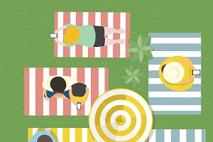Summer feel design vector