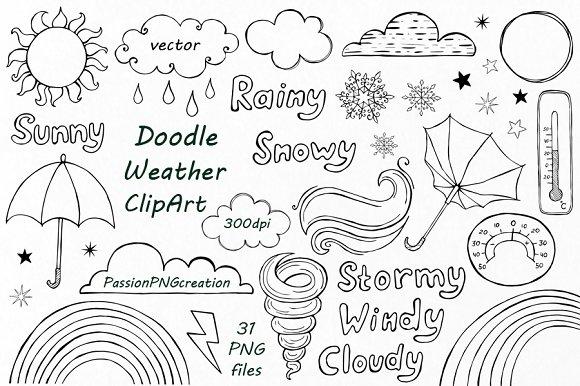 Doodle Weather Clipart