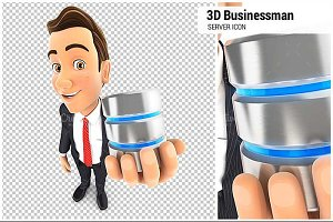 3D Businessman Server Icon