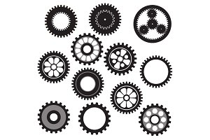 machine gear collection cogwheel set