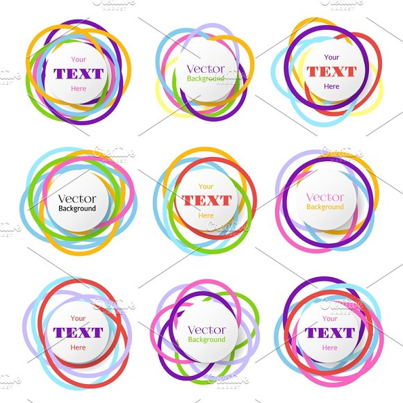 Colored Rings Banners