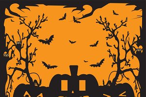 Halloween background orange