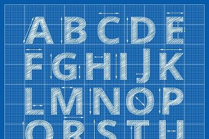 Blueprint alphabet