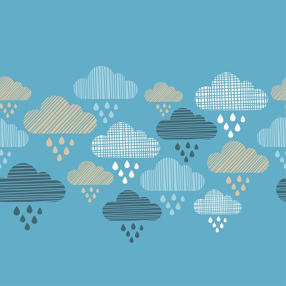 Clouds And Rain Drops