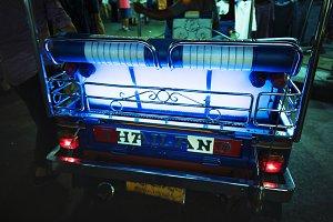 Tuk tuk Thai taxi night time