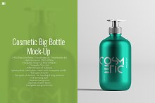 Cosmetic Big Bottle Mock-Up
