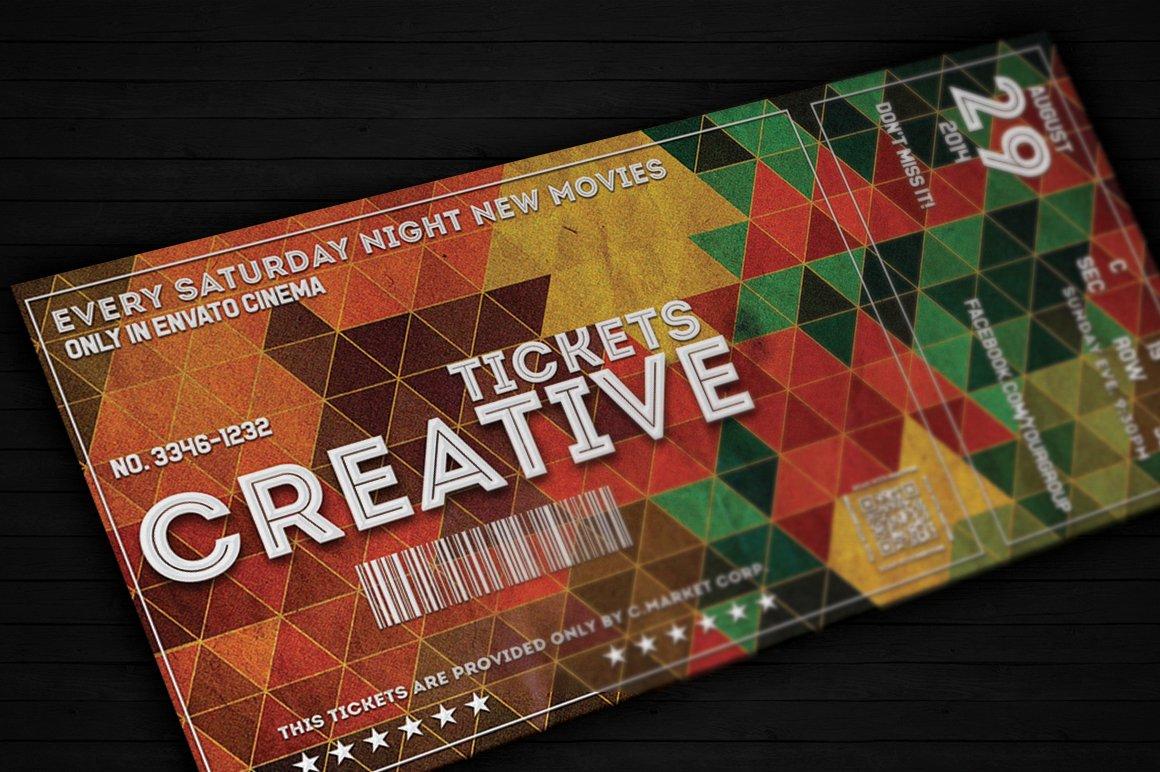 Creative Ticket 01 Card Templates Creative Market