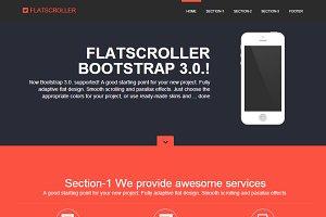 FLATSCROLLER Bootstrap 3.0. landing