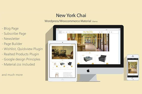 New York Chai Wordpress Woo Theme
