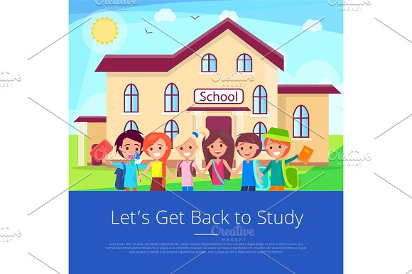 Let's Get Back To Stuty Cartoon Poster
