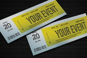 Elegant event ticket 01