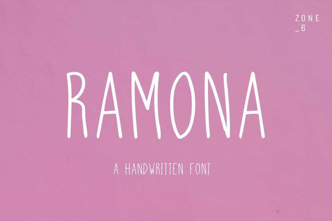 Ramona a handwritten font sans serif fonts creative market fandeluxe Gallery