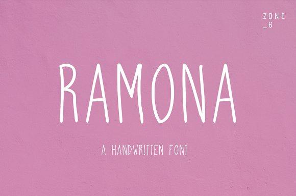 Ramona A Handwritten Font