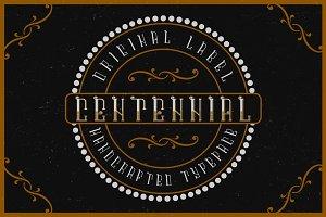 Centennial label font