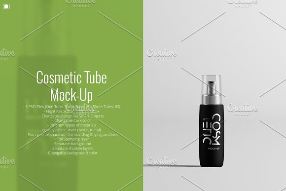 Download Cosmetic Tube Mock-Up
