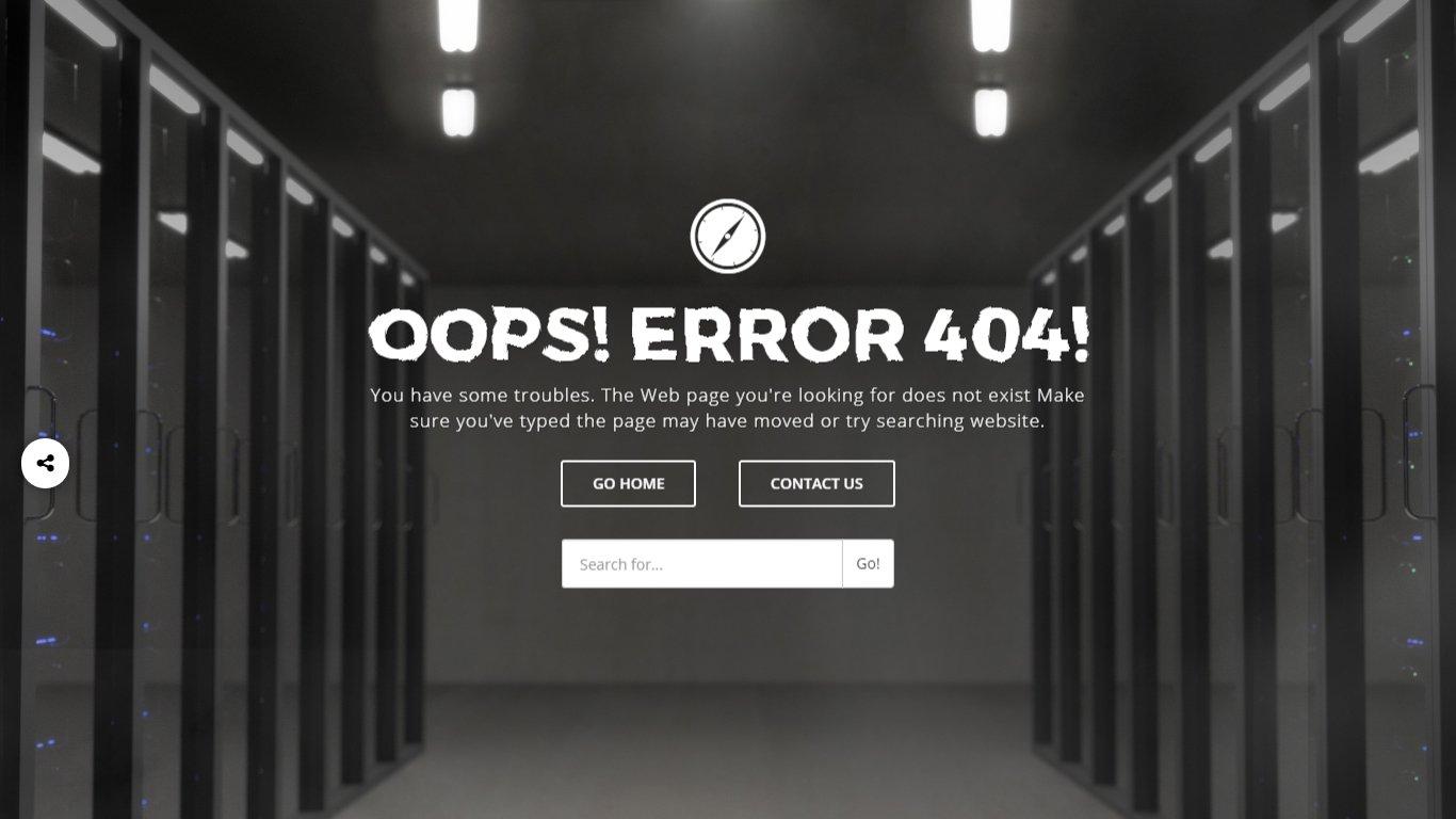 OOPS! ERROR 404! ~ HTML/CSS Themes ~ Creative Market