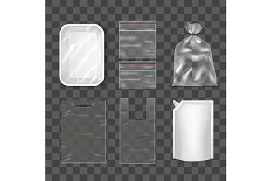 Template Blank Realistic Packge Set