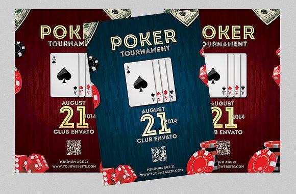 poker night flyer or poster flyer templates creative market. Black Bedroom Furniture Sets. Home Design Ideas