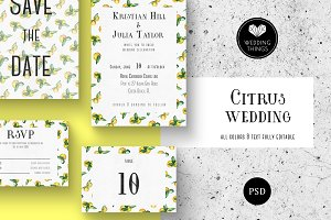 Citrus Wedding Template