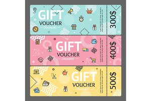 Gift Voucher Card. Vector